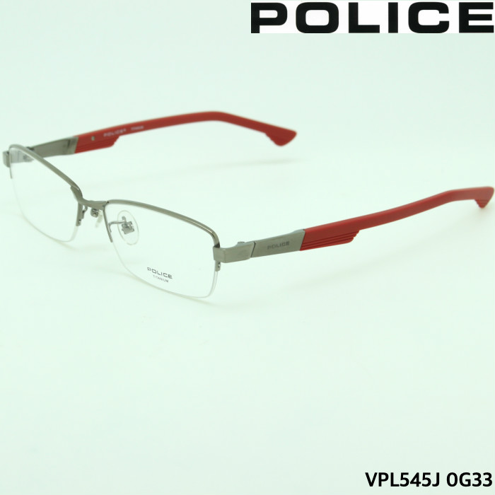 【ブルーライトカットレンズ付き】PCメガネポリス POLICE VPL545J 0G33