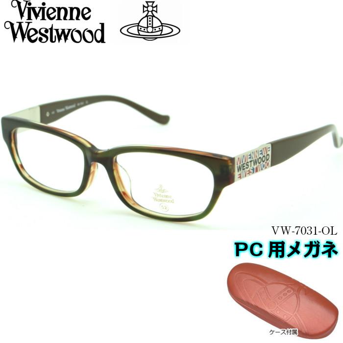 【ブルーライトカットレンズ付き】Vivienne Westwood ヴィヴィアンウエストウッド PC用メガネ VW-7031 OL