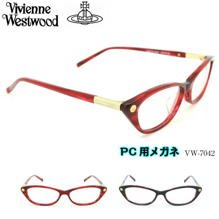 【ブルーライトカットレンズ付き】Vivienne Westwood ヴィヴィアンウエストウッド PC用メガネ VW-7042 選べる2カラー