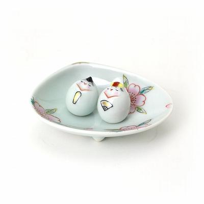 Arita porcelain seika shop gallery fujiyama rakuten global blue flower bean hina dolls 2 set the cherry picture type dish with clams negle Gallery