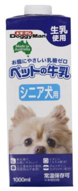 ドギーマンハヤシ ペットの牛乳 アイテム勢ぞろい シニア犬用 予約販売品 1000mlx10個 ケース販売