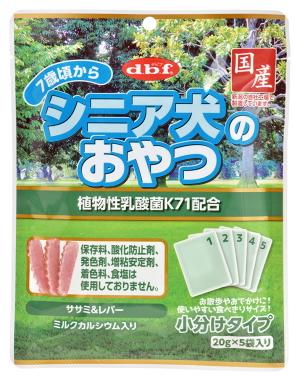 【デビフペット】シニア犬のおやつ 植物性乳酸菌K71配合 100gx48個(ケース販売)