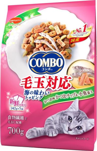 食物繊維で毛玉に配慮 日本ペット コンボ キャット 毛玉対応 小魚添え かつおチップ スピード対応 全国送料無料 25%OFF 700g かつお味