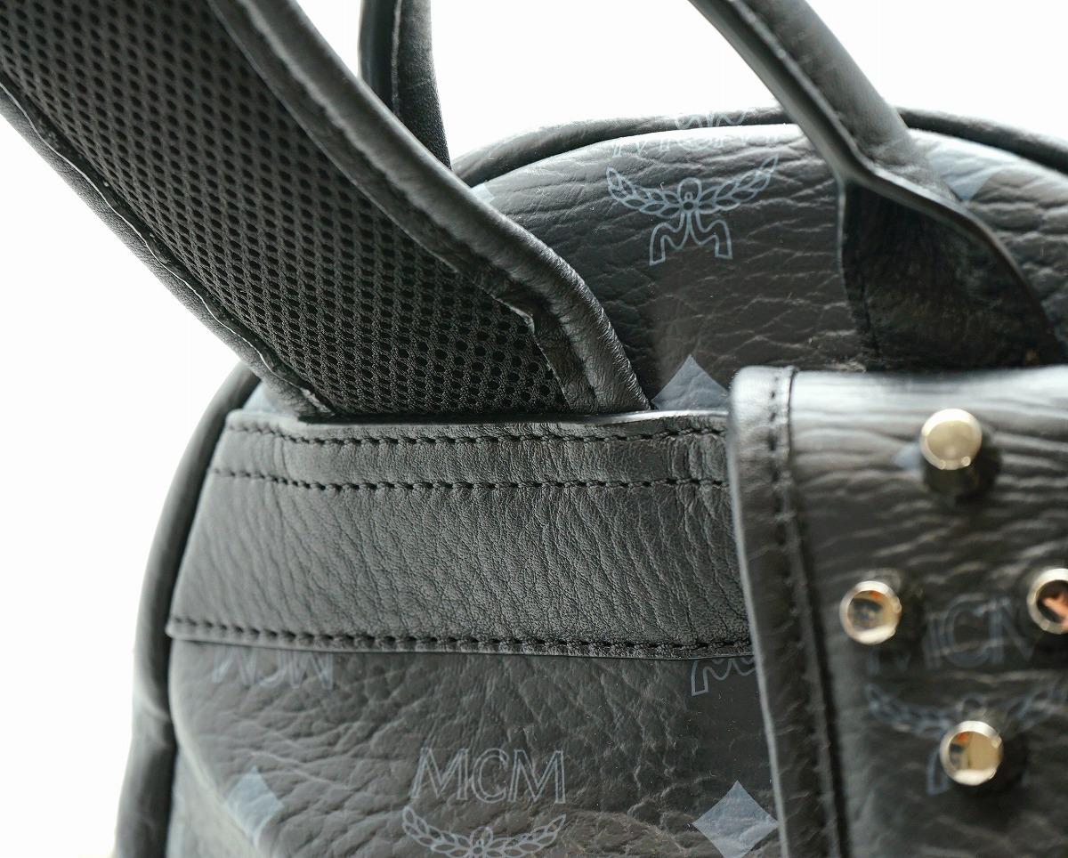 バッグ MCM エムシーエム リュック リュックサック デイパック バックパック スタッズ レザー ブラック 黒 グレー シルバー金具 MMK3AVE51BK001uY67ygvbf
