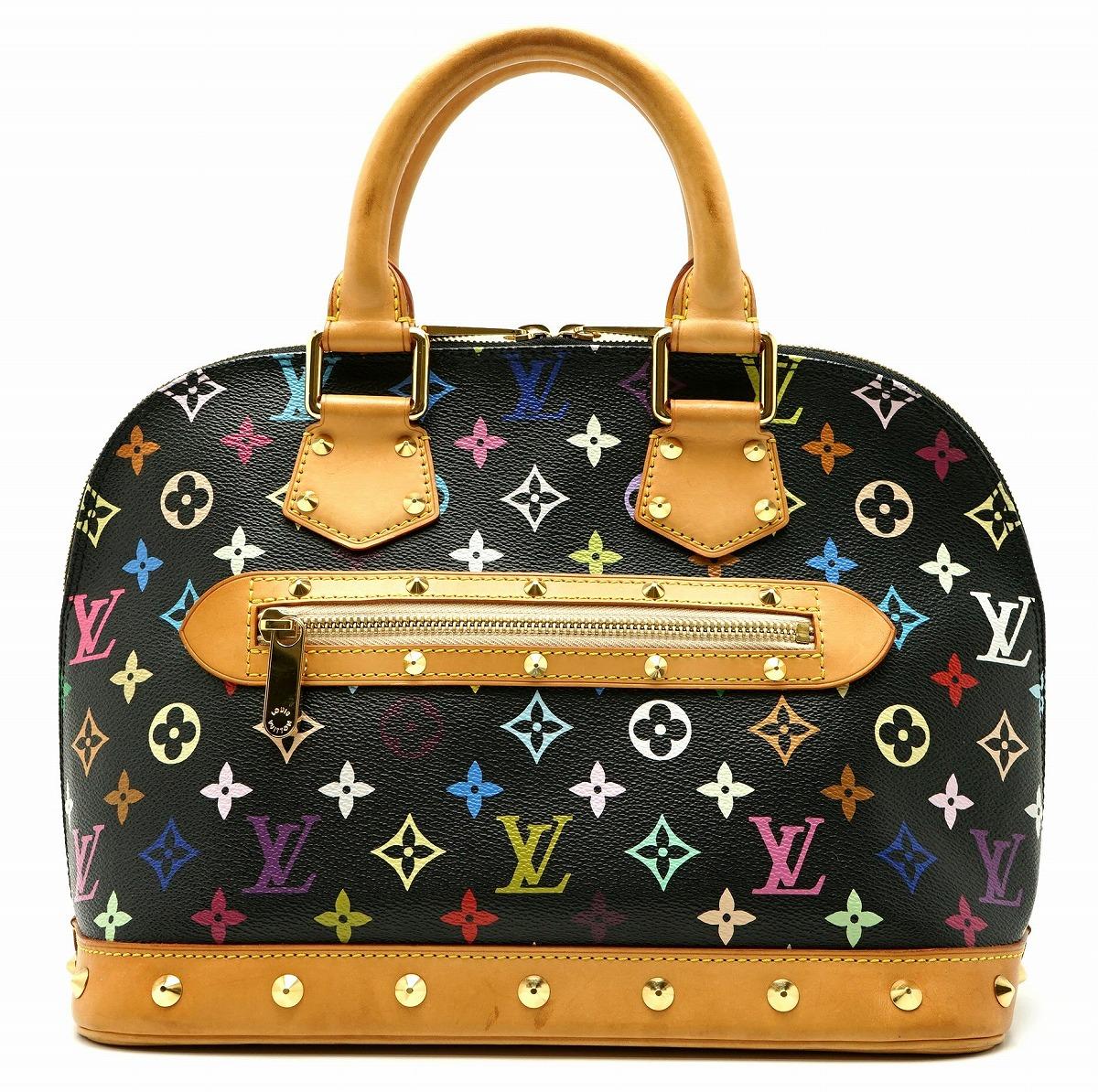 【バッグ】LOUIS VUITTON ルイ ヴィトン マルチカラー アルマ ノワール ハンドバッグ M92646 【中古】【k】【Blumin 市場店】