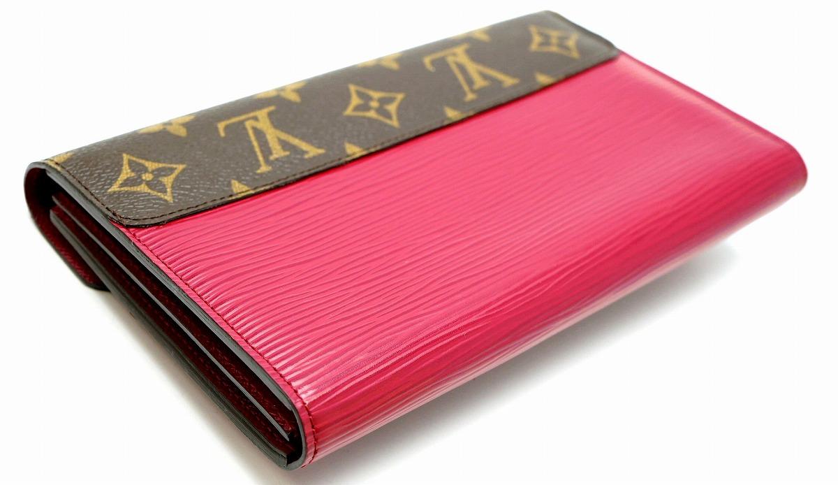 92bb5fddf69e ... 財布】LOUISVUITTONルイヴィトンモノグラムエピポルトフォイユマリーローズ2つ折財布フューシャM60507 ...
