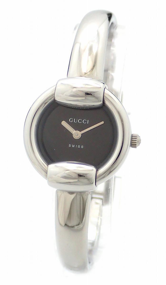 【ウォッチ】GUCCI グッチ シルバー文字盤 SS Rサイズ レディース QZ クォーツ 腕時計 1400L 【中古】【u】【Blumin 市場店】