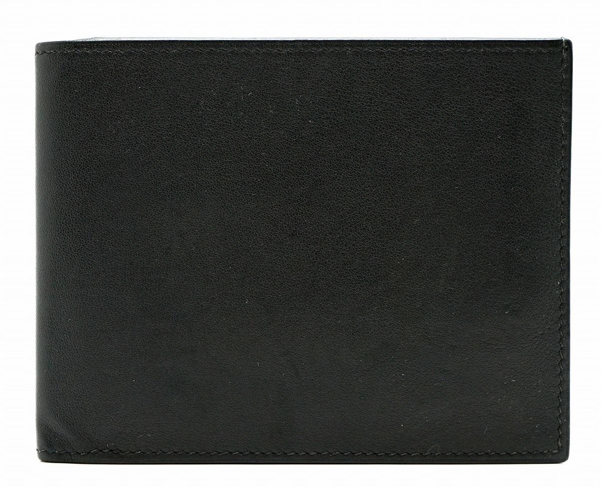 【財布】HERMES エルメス シチズン ツイル コンパクト 2つ折 札入れ ヴォースイフト 黒 ブラック □R刻印 【中古】【k】【Blumin 市場店】