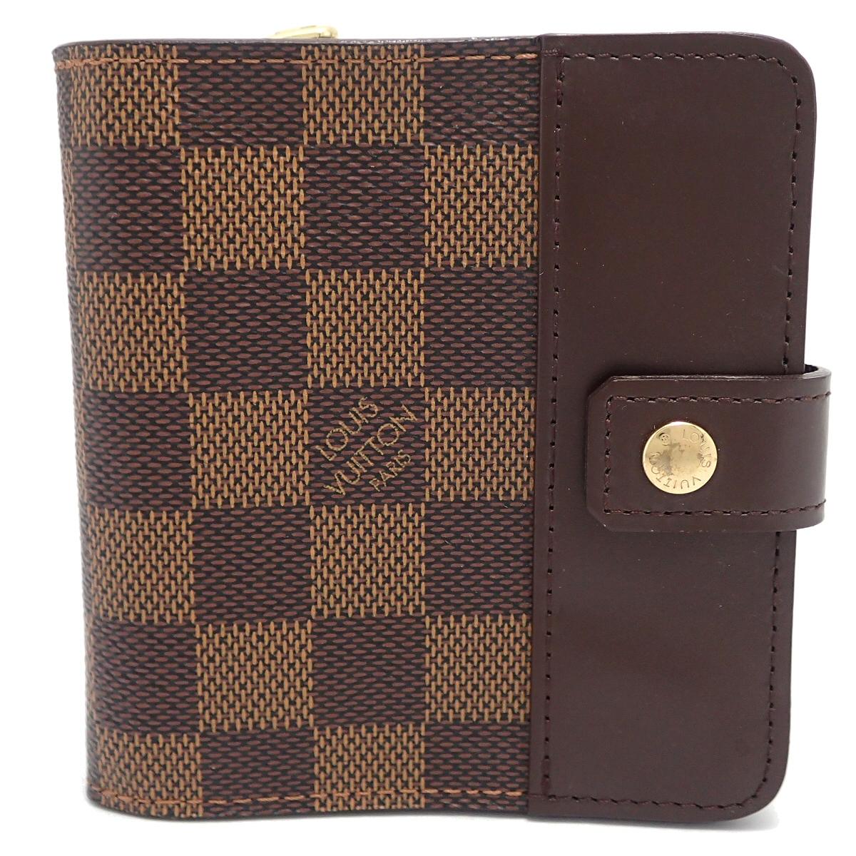 【財布】LOUIS VUITTON ルイ ヴィトン ダミエ コンパクト ジップ 2つ折財布 ラウンドファスナー N61668 【中古】【k】【Blumin 市場店】