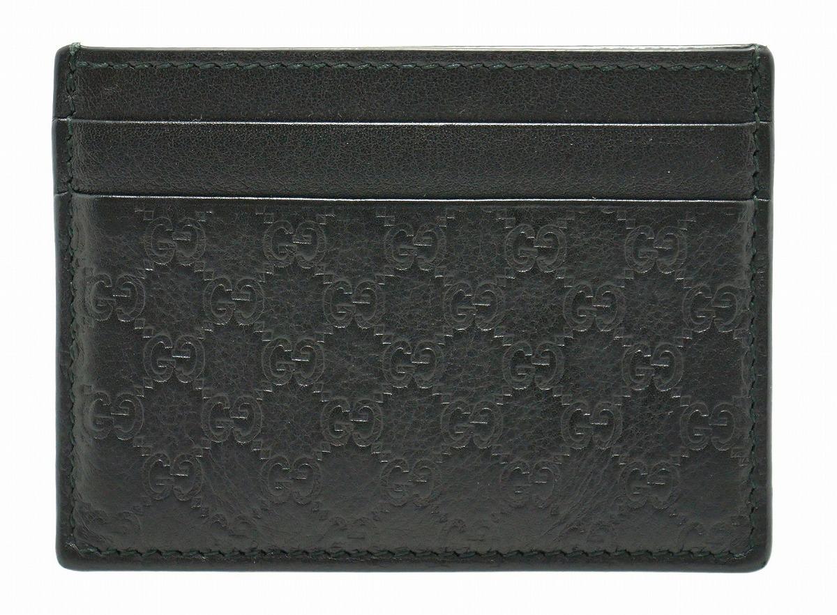 e2b1b2dc05e6 【財布】GUCCIグッチマイクログッチシマレザーカードケースパスケース名刺入れ黒ブラック
