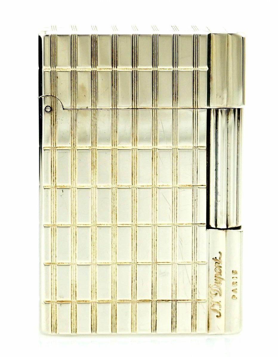 S.T.Dupont デュポン ギャッツビー ガスライター ライター シルバー色 グリーンラベル 【中古】【k】【Blumin 市場店】
