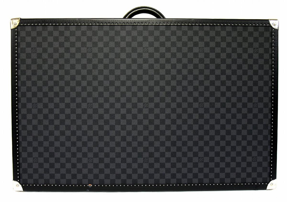 【バッグ】LOUIS VUITTON ルイ ヴィトン アルゼール 80 ダミエ グラフィット トランクケース ハードケース スーツケース 旅行カバン ブラック 黒 N48191 【中古】【k】