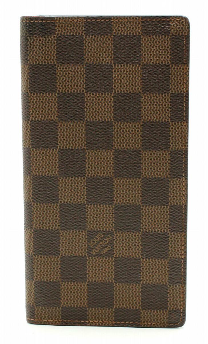 【財布】LOUIS VUITTON ルイ ヴィトン ダミエ ポルトフォイユ ブラザ 2つ折長財布 N60017 【中古】【k】【Blumin 市場店】
