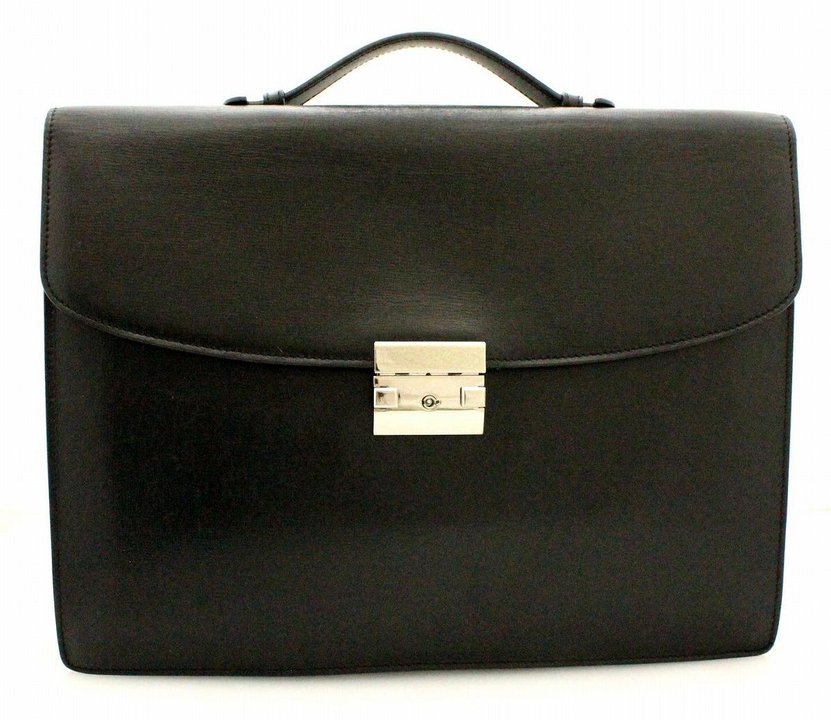 【バッグ】valextra ヴァレクストラ ビジネスバッグ ブリーフケース 書類カバン レザー 黒 ブラック 【中古】【k】【Blumin 市場店】