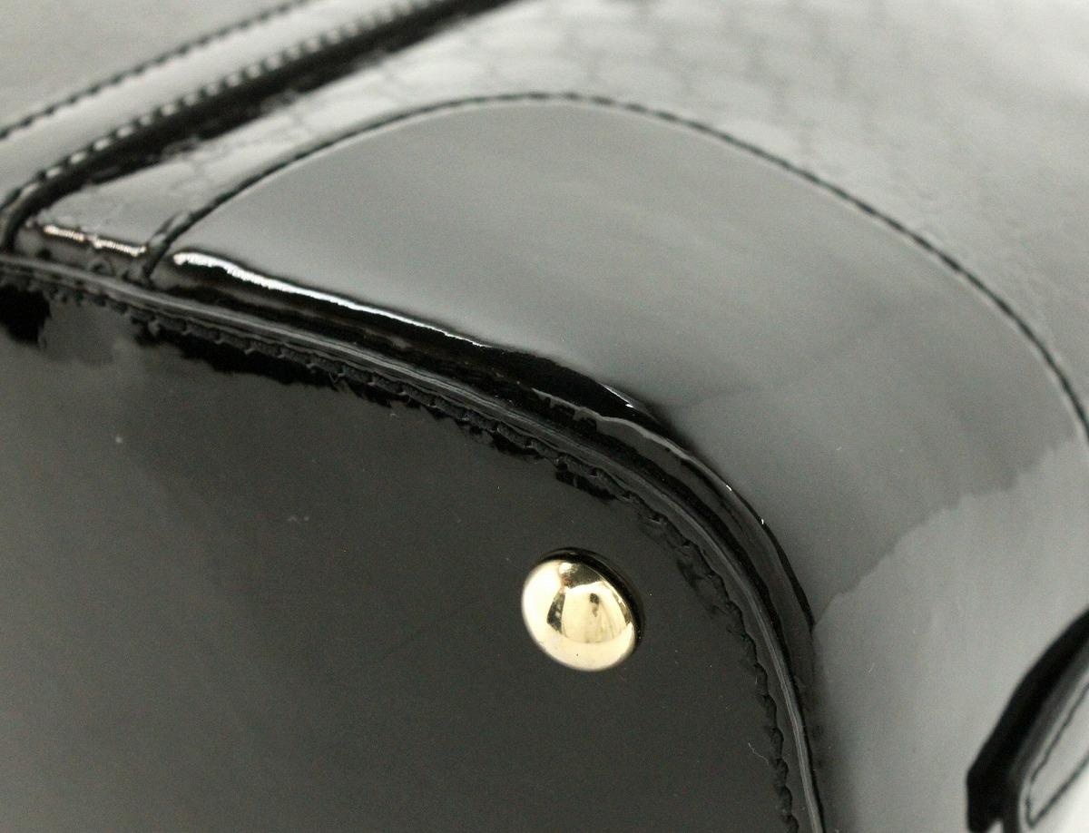 バッグ GUCCI グッチ マイクログッチシマレザー ニーストップハンドル パテントレザー ハンドバッグ 2WAYショルダーN8nm0w