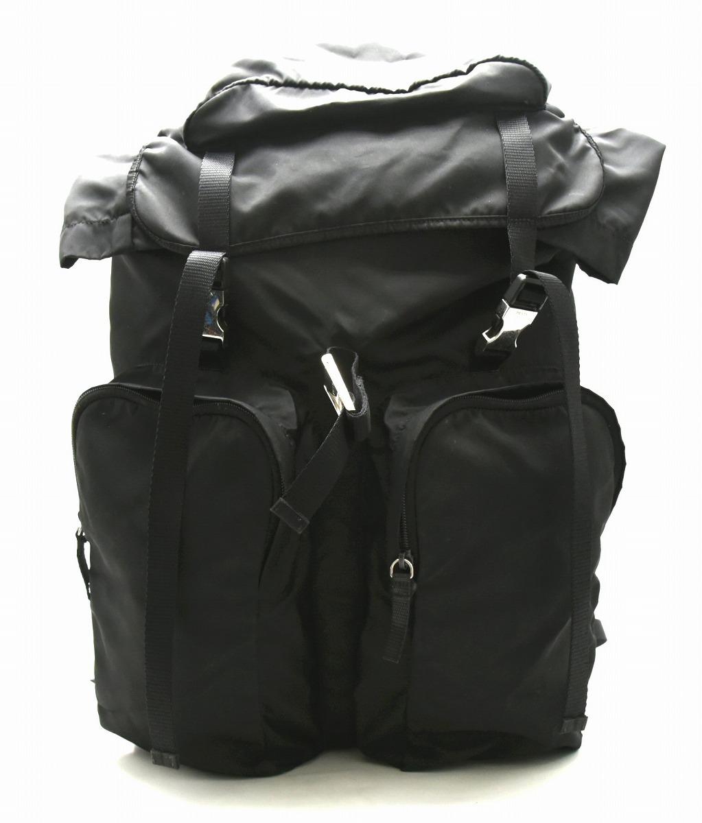 【バッグ】PRADA プラダ バックパック リュック リュックサック デイパック ナイロン 黒 ブラック V136 【中古】【k】