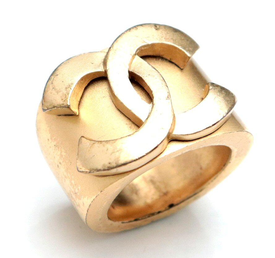 1717c0cfe50e 【ジュエリー】CHANELシャネルココマークリング指輪ヴィンテージゴールド13号#13【
