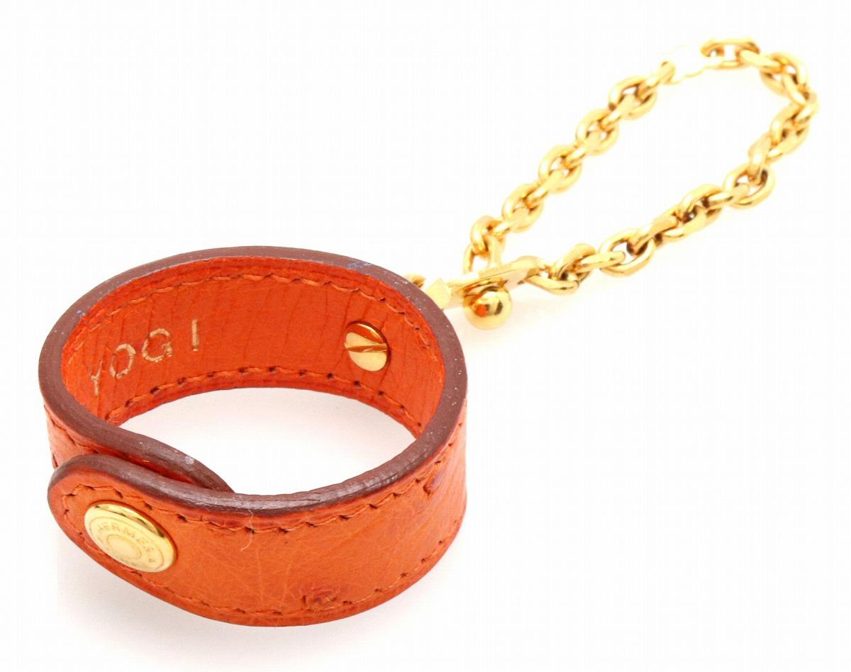 quality design d6392 ede79 HERMES エルメス グローブホルダー ノマドオレンジ ゴールド ...
