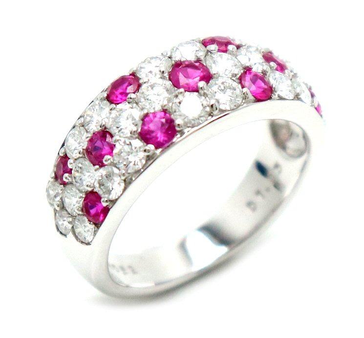 【ジュエリー】MIKIMOTO ミキモト ダイヤ リング K18WG D1.03ct RO0.62ct リング 指輪 【中古】【u】