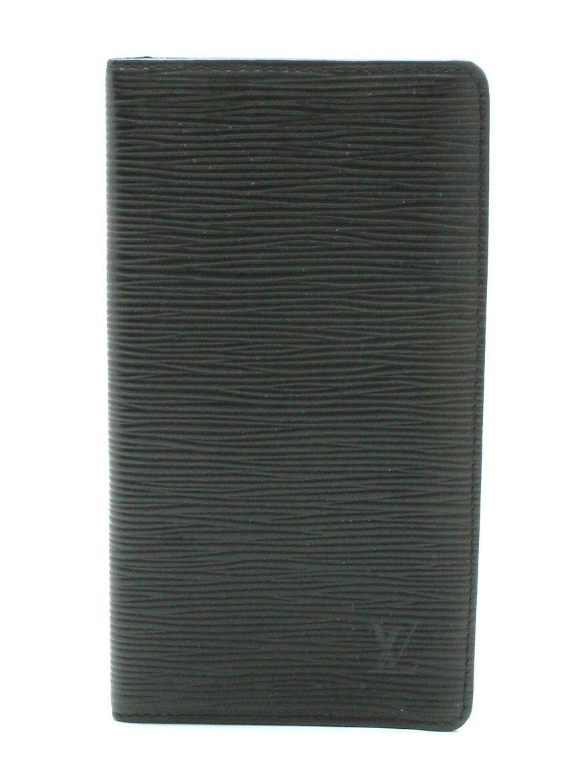 【財布】LOUIS VUITTON ルイ ヴィトン エピ ポルトカルト クレディ 円 2つ折 長札入れ レザー ノワール 黒 ブラック M63212 【中古】【k】