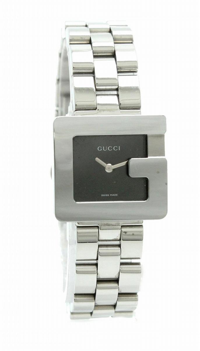 【ウォッチ】GUCCI グッチ Gモチーフ Gロゴ ブラック文字盤 レディース QZ クォーツ 腕時計 3600L 【中古】【u】
