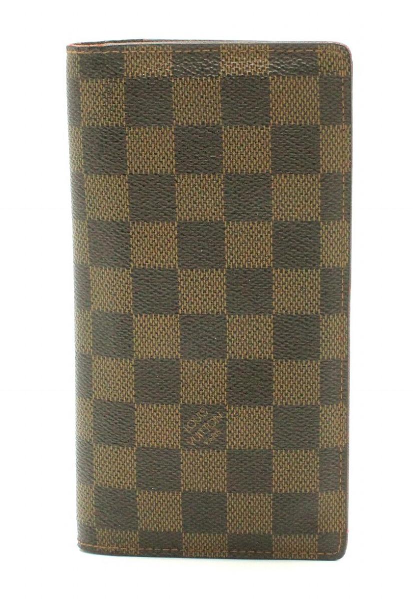 【財布】LOUIS VUITTON ルイ ヴィトン ダミエ ポルトフォイユ ブラザ 2つ折長財布 N60017 【中古】【k】