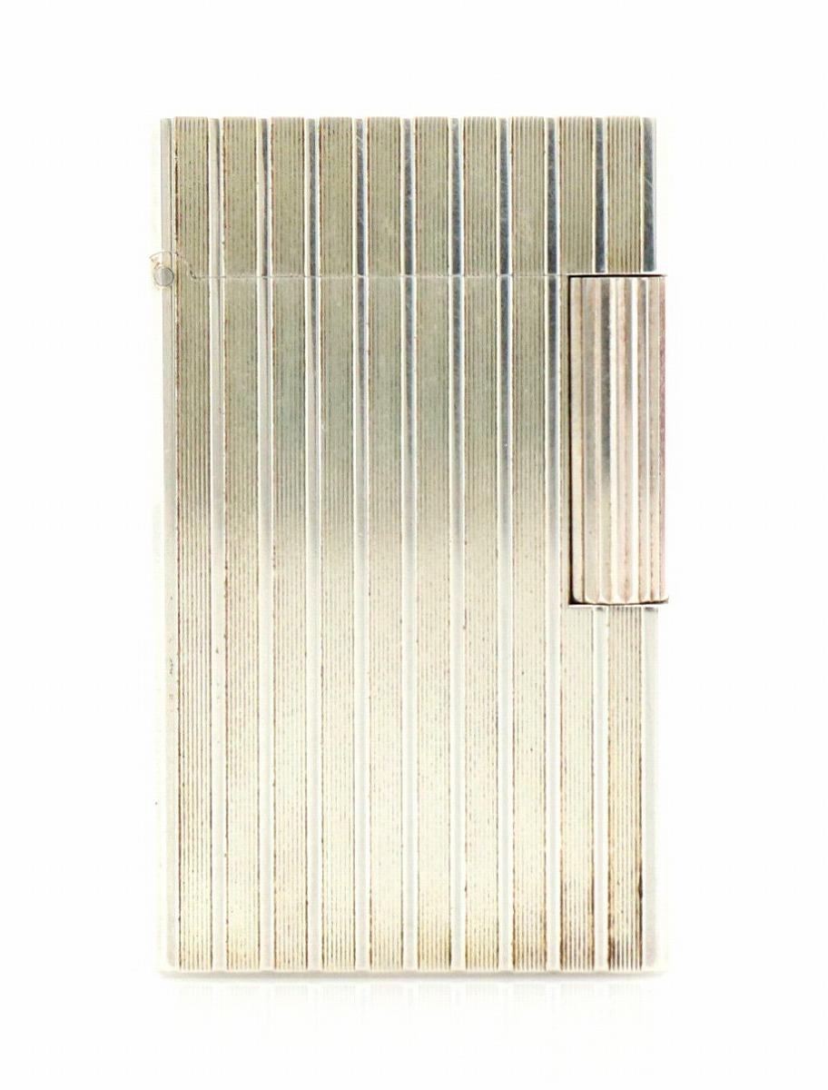 S.T.Dupont デュポン ライン1 シルバー ガスライター ライター 【中古】【u】
