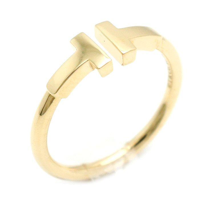 【ジュエリー】【新品仕上げ済】TIFFANY&Co. ティファニー T ワイヤー リング 指輪 K18YG イエローゴールド 14号 #14 【中古】【k】