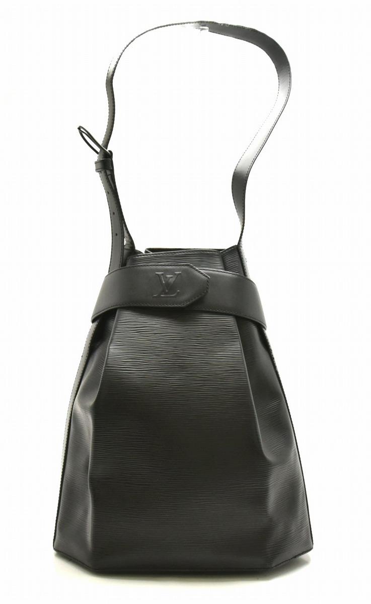 【バッグ】LOUIS VUITTON ルイ ヴィトン エピ サックデポールPM ショルダーバッグ セミショルダー ワンショルダー ポーチ付 ノワール 黒 ブラック M80155 【中古】【k】
