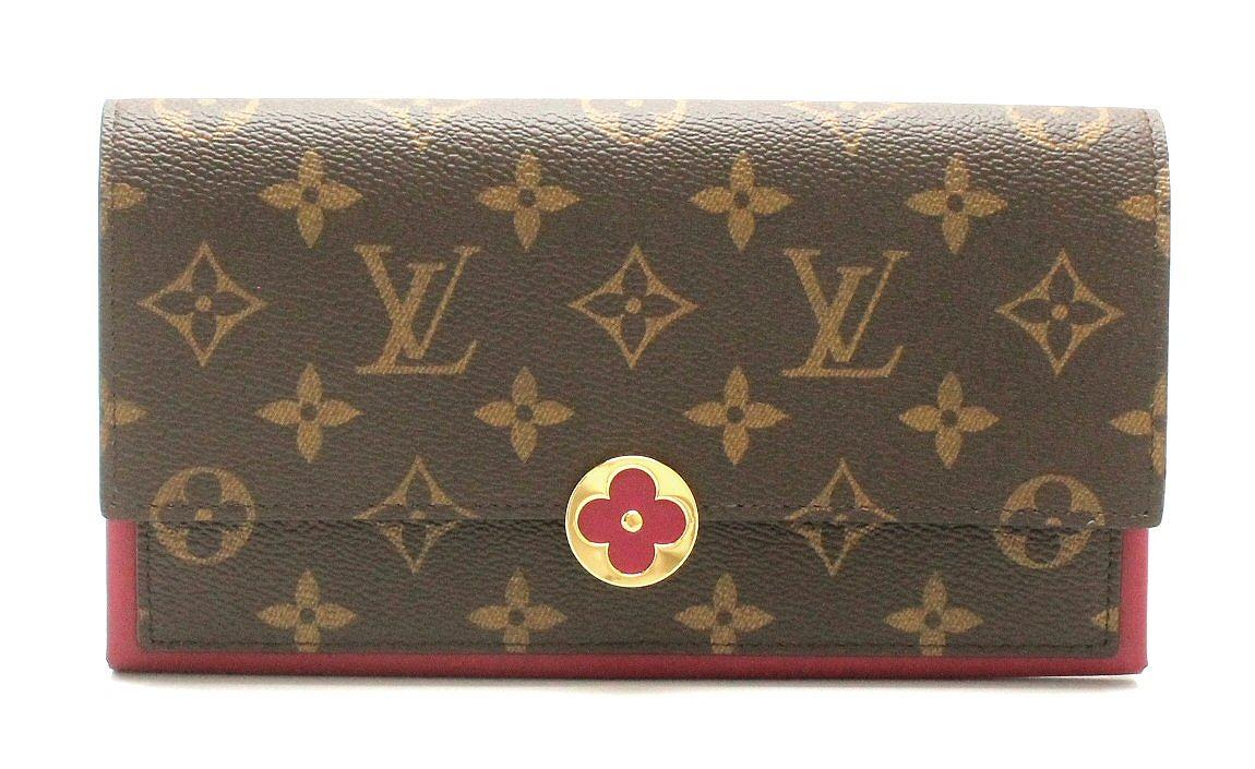 【未使用品】【財布】LOUIS VUITTON ルイ ヴィトン モノグラム ポルトフォイユフロール 長財布 フューシャ M64585 【中古】【k】