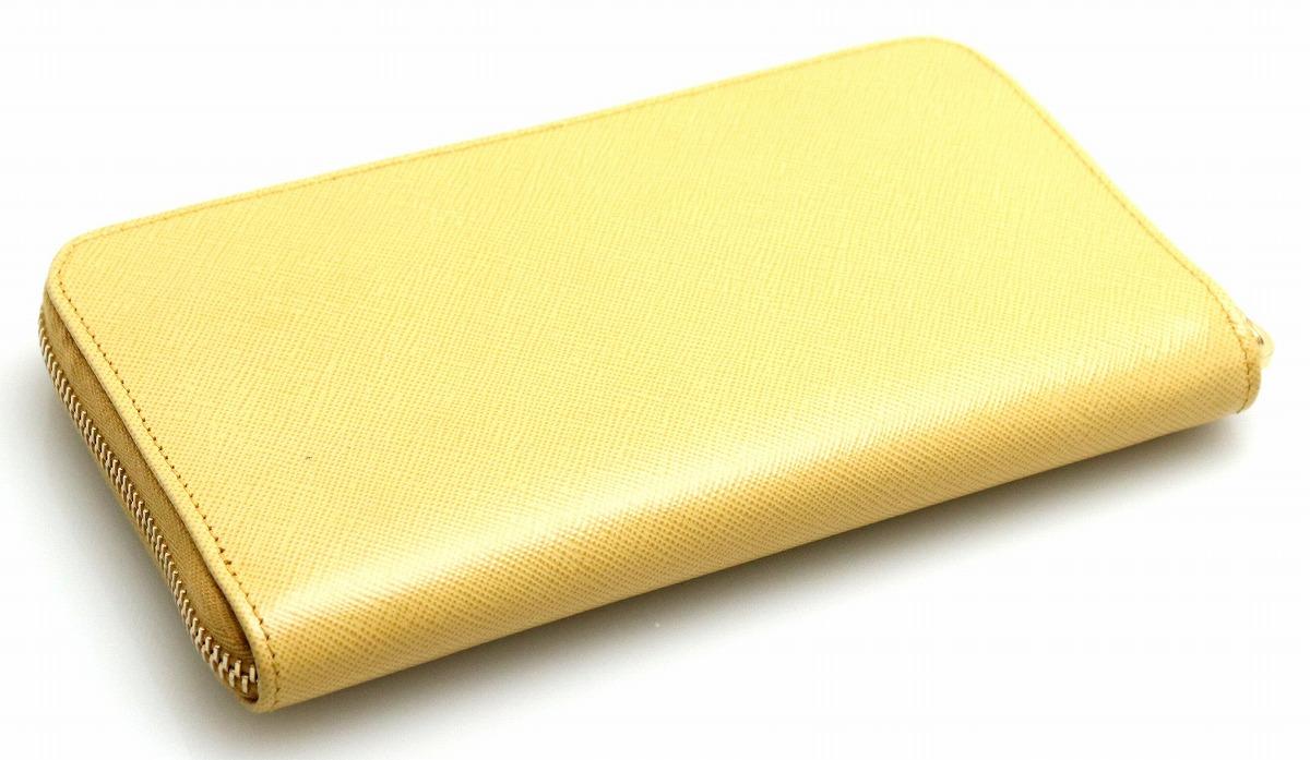 c6e5662d2272 【未使用品】【財布】PRADAプラダサフィアーノメタルラウンドファスナー長財布