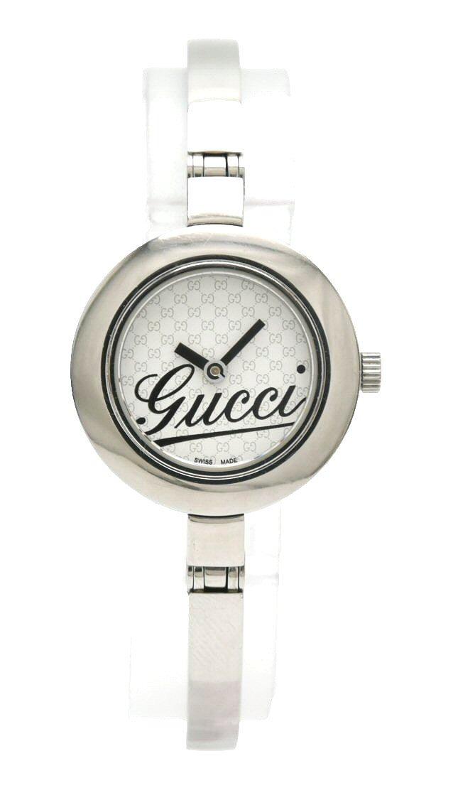 【ウォッチ】GUCCI グッチ シルバー文字盤 レディース QZ クォーツ 腕時計 105 YA105528 【中古】【k】