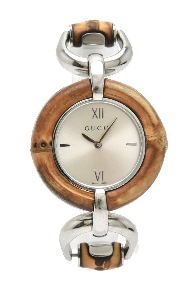 【ウォッチ】GUCCI グッチ シルバー文字盤 SS バンブー レディース QZ クォーツ 腕時計 132.4 YA132402 【中古】【k】
