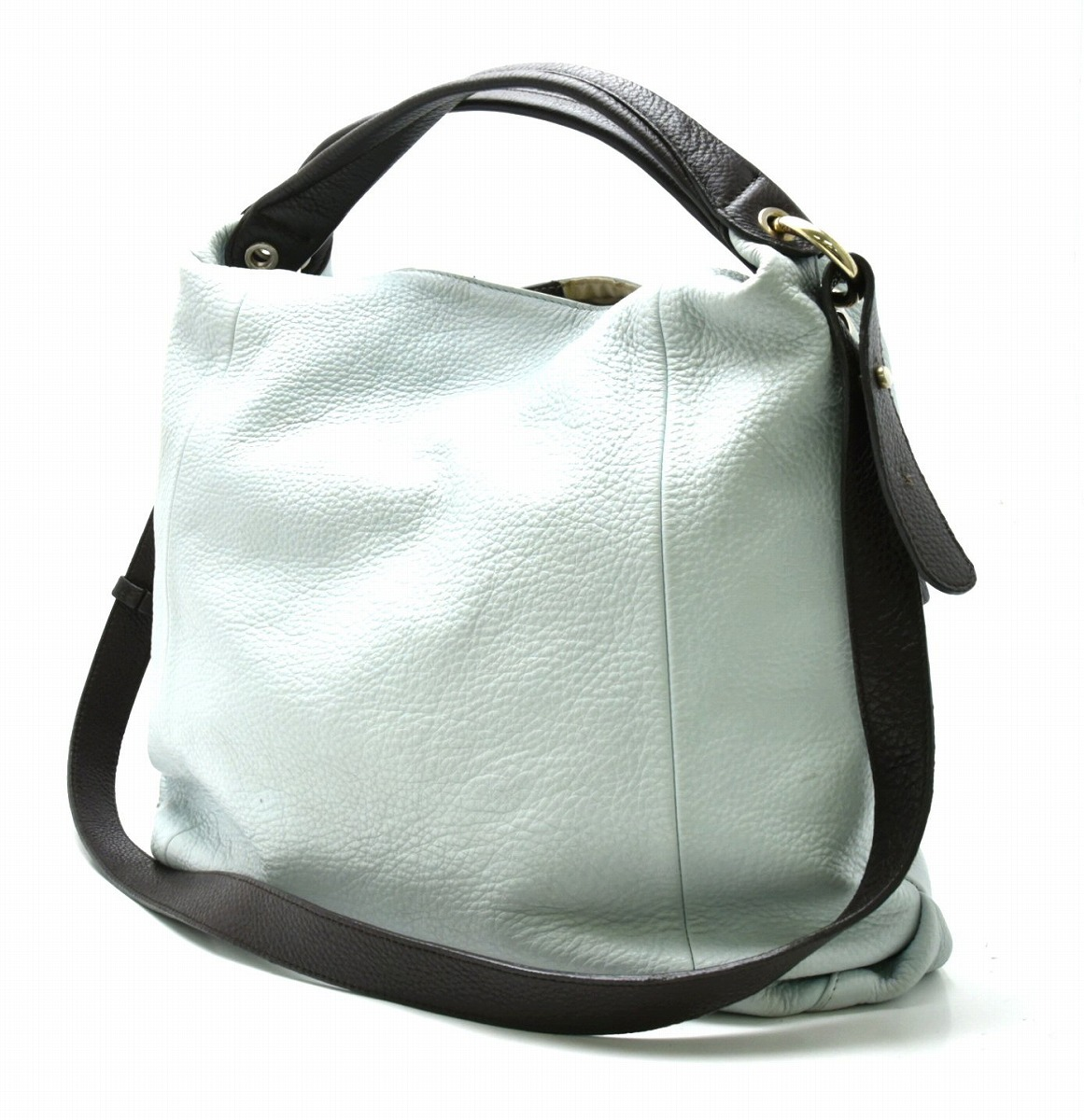 f7cff78fa3df 【バッグ】FURLAフルラ型押しレザーハンドバッグ2WAYショルダーバッグ肩掛けライトブルー水色