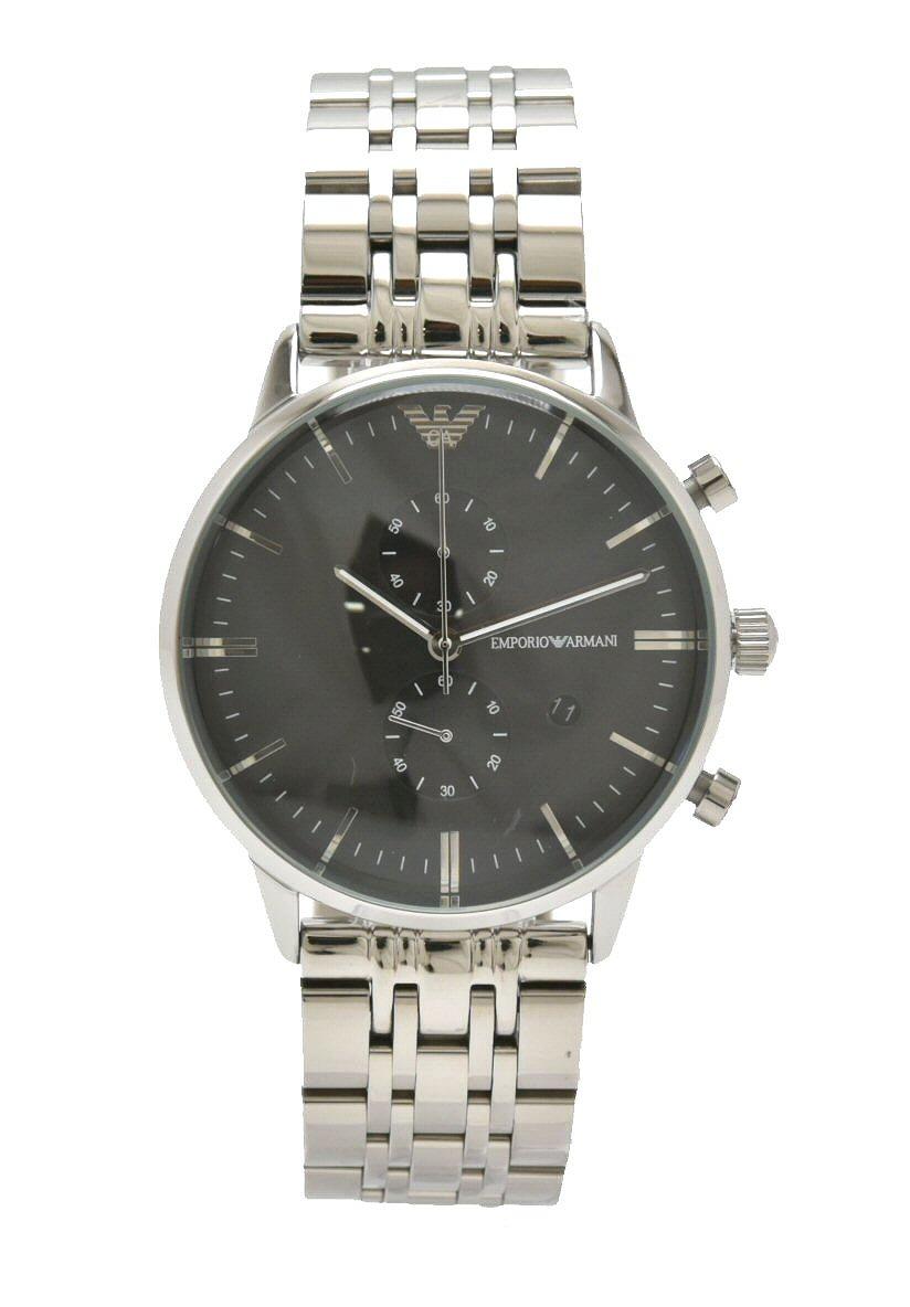 【新品未使用品】【ウォッチ】EMPORIO ARMANI エンポリオ アルマーニ クロノグラフ デイト ブラック文字盤 クォーツ QZ メンズ 腕時計 AR-0389 AR0389【k】