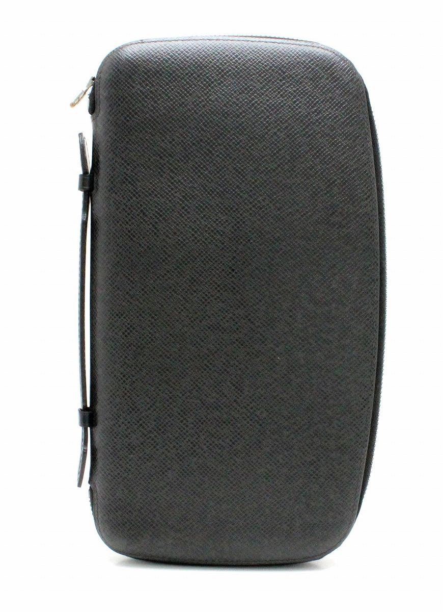 【バッグ】LOUIS VUITTON ルイ ヴィトン タイガ オーガナイザー アトール トラベルケース セカンドバッグ アルドワーズ 黒 ブラック M30652 【中古】【k】
