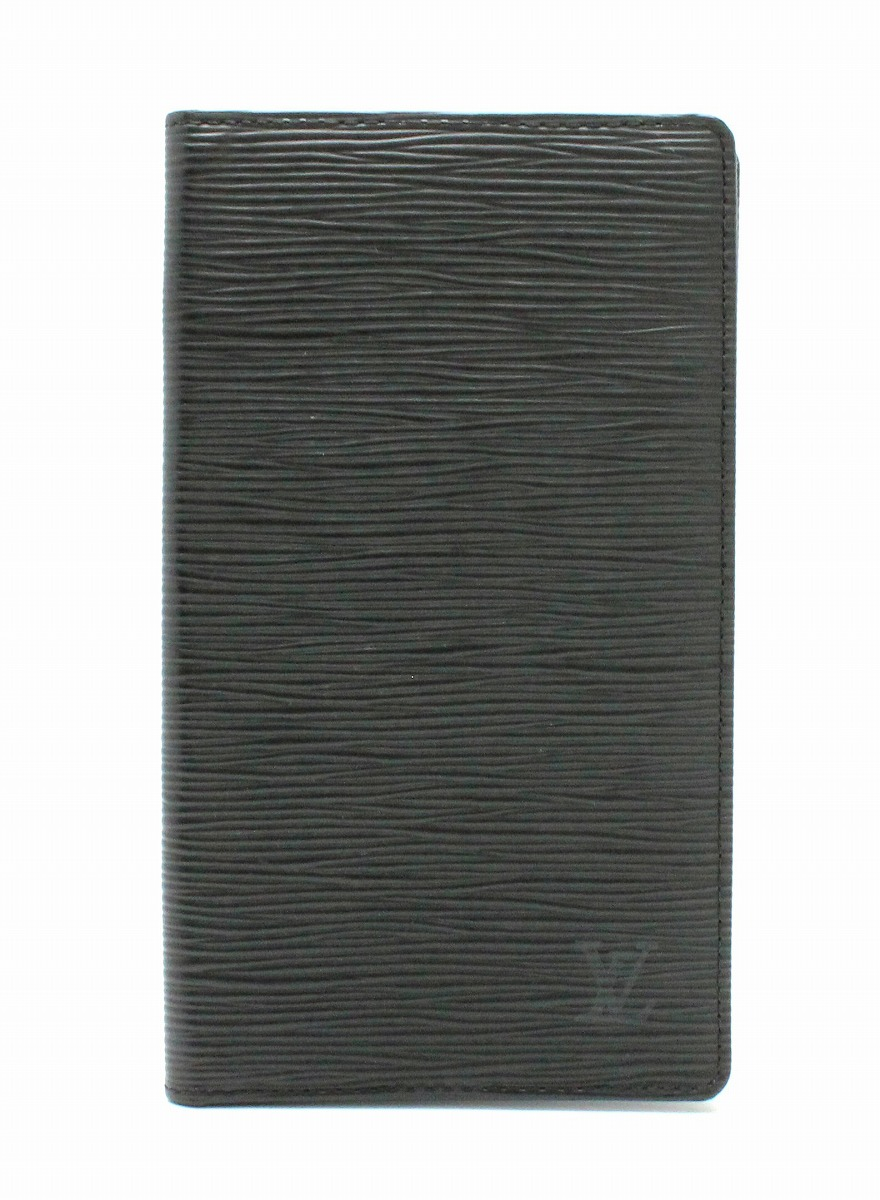 【財布】LOUIS VUITTON ルイ ヴィトン エピ ポルトシェキエ カルト クレディ 2つ折札入れ ノワール 黒 ブラック M63732 【中古】【k】