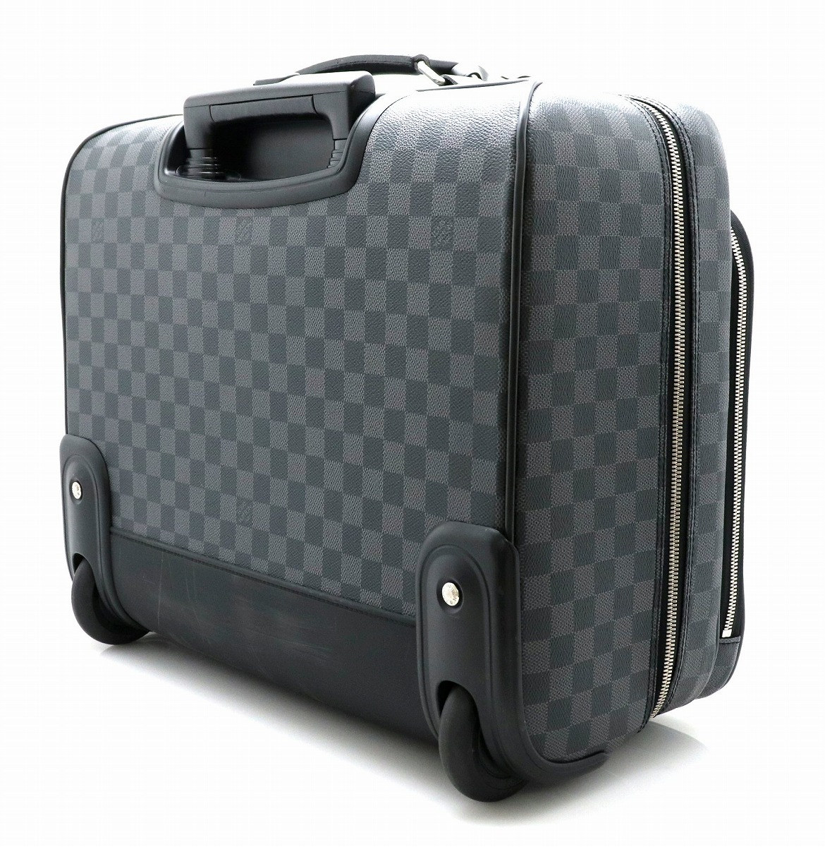 6afcee1d61 VUITTON ルイ ヴィトン ダミエグラフィット パイロットケース キャリーバッグ トロリーバッグ 旅行用 トラベルバッグ N23206  【中古】【k】 【バッグ】LOUIS-スーツ ...