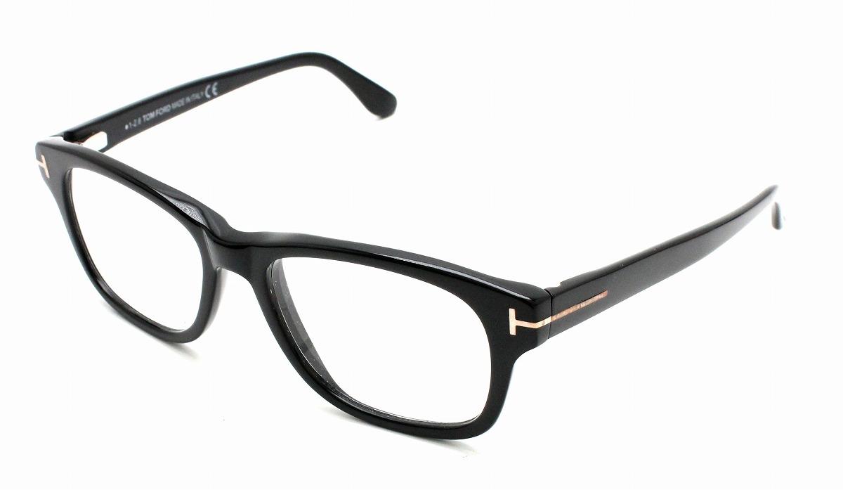 TOM FORD トム フォード トムフォード 眼鏡 伊達メガネ めがね クリア ブラック 黒 001 ゴールド金具 52□17 145 TF5147 【中古】【k】