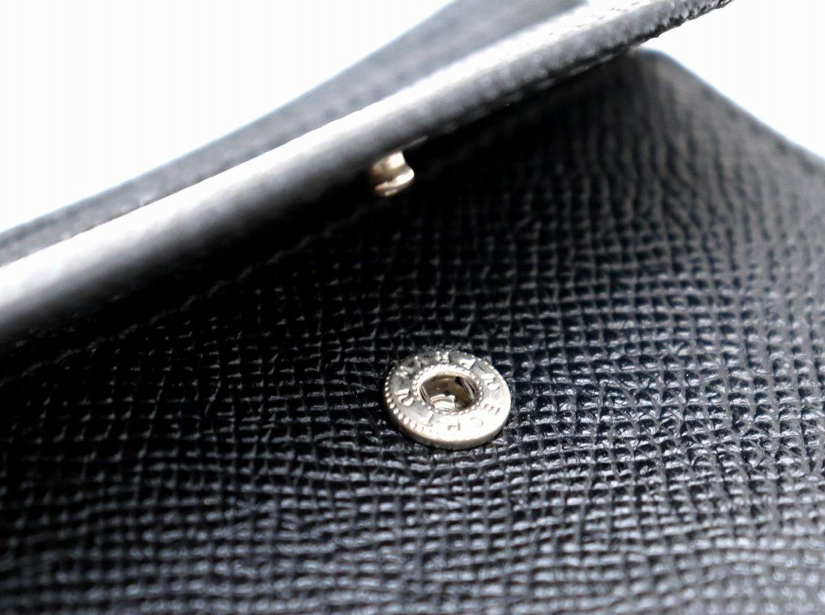 50a1e74cf87a 【財布】BVLGARIブルガリグレインレザー2つ折財布黒ブラック20253【中古】