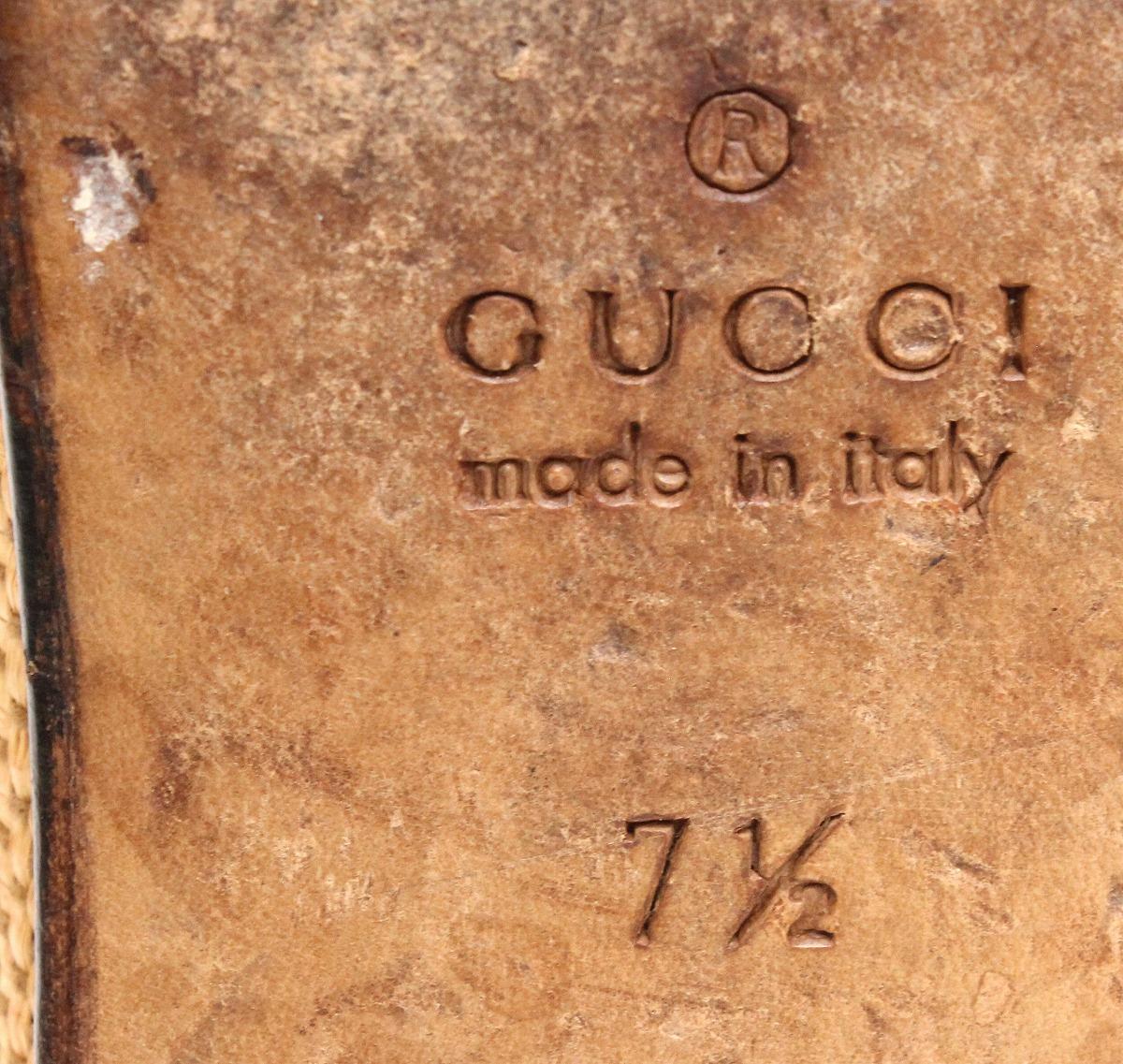 靴 GUCCI グッチ ホースビット ローファー スリッポン モカシン レザー スワロー ブラウン 茶 ベージュ ゴールド金具 メンズ サイズ 7 1 2 25 5cmkkXO8nwNP0Z
