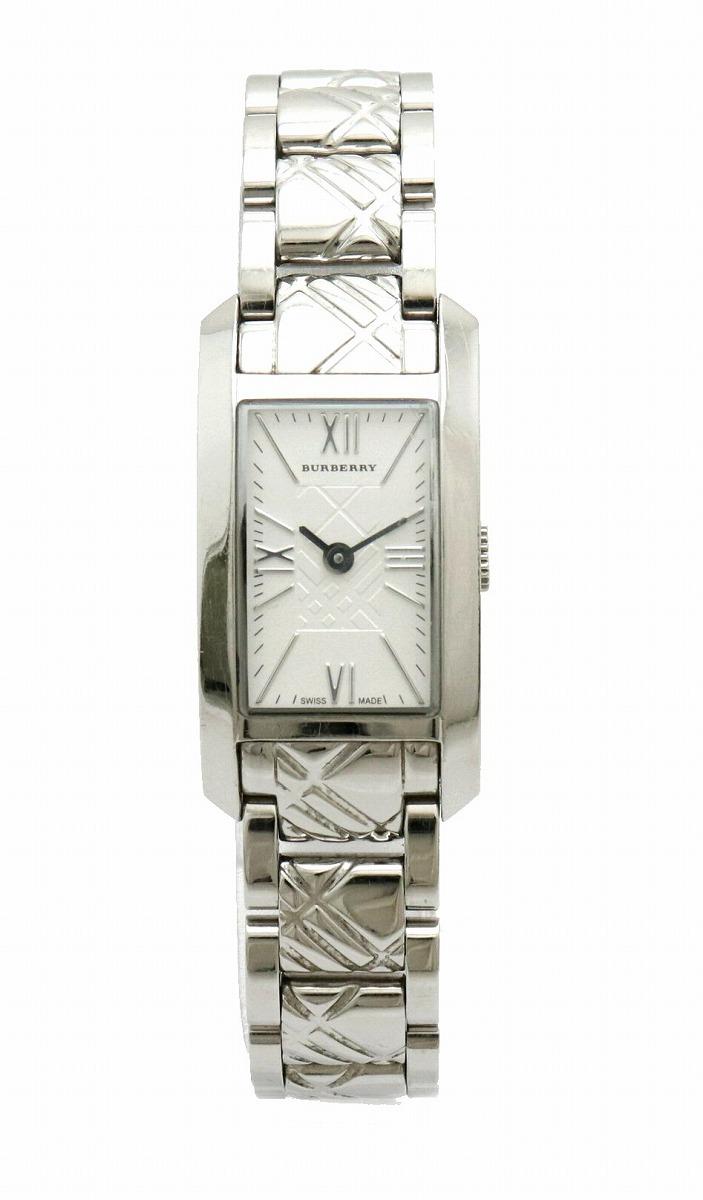 【ウォッチ】BURBERRY バーバリー シルバー文字盤 SS レディース QZ クォーツ 腕時計 BU1091 【中古】【k】