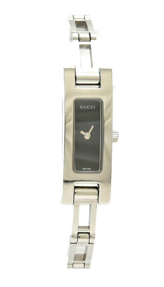 【ウォッチ】GUCCI グッチ ブラック文字盤 黒文字盤 SS レディース QZ クォーツ 腕時計 3900L 【中古】【k】