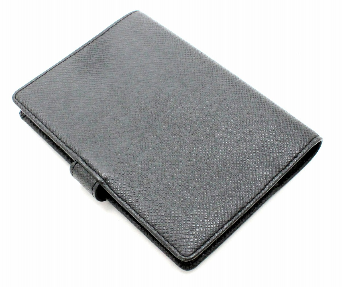 LOUIS VUITTON ルイ ヴィトン タイガ アジェンダPM 手帳カバー 6穴式 システム手帳 レザー アルドワーズ 黒 ブラック R20426knkPNOX08w