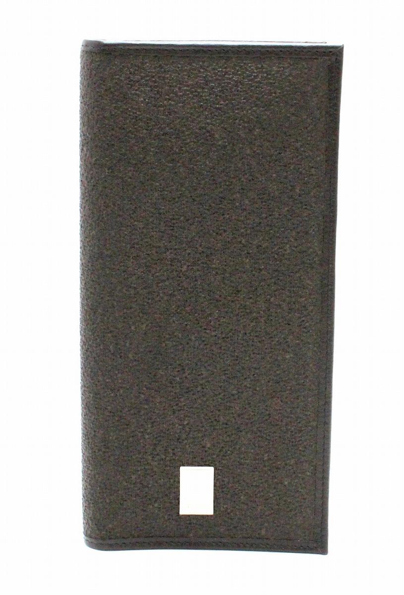 【未使用品】【財布】dunhill ダンヒル SIDECAR サイドカー 2つ折 長札入れ PVC レザー 茶 ダークブラウン シルバー金具 ロゴ 【中古】【k】