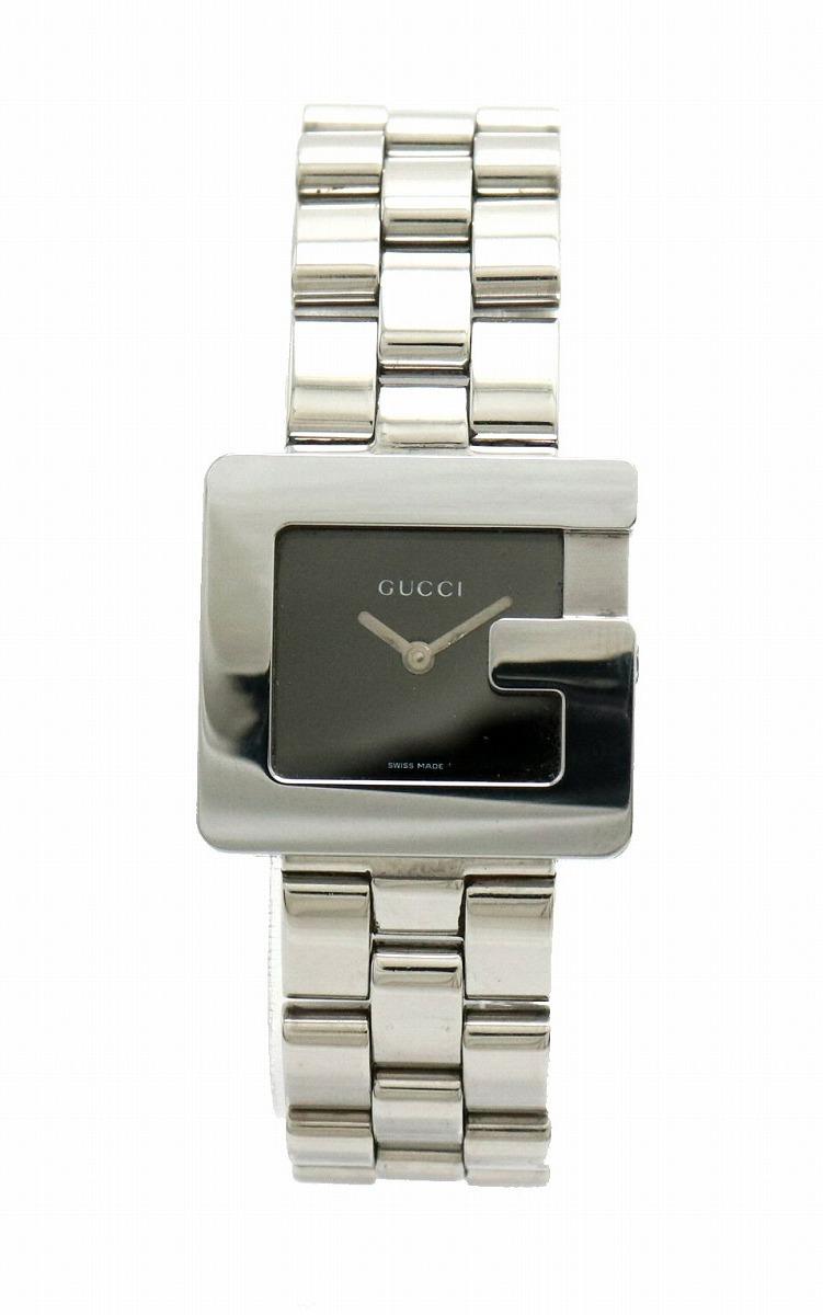 【ウォッチ】GUCCI グッチ Gモチーフ ブラック文字盤 ボーイズ レディース ユニセックス クォーツ 腕時計 3600J 【中古】【k】