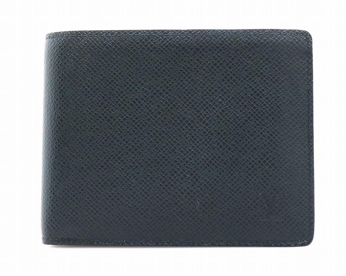 【財布】LOUIS VUITTON ルイ ヴィトン タイガ ポルトフォイユ フロリン 2つ折財布 ボレアル M32649 【中古】