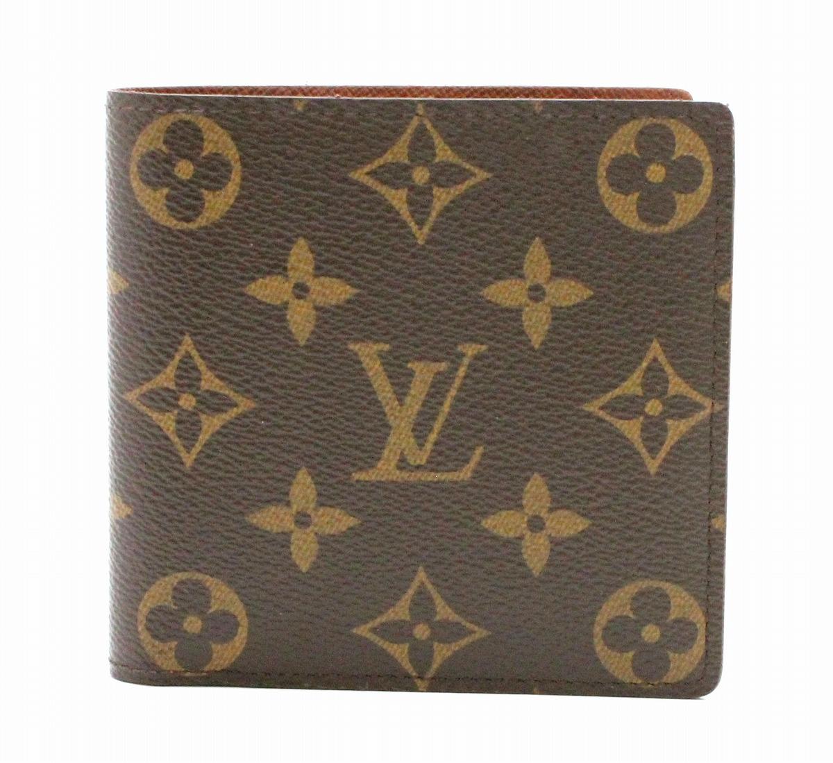 【財布】LOUIS VUITTON ルイ ヴィトン モノグラム ポルトフォイユ マルコ 2つ折財布 M61675 【中古】【k】