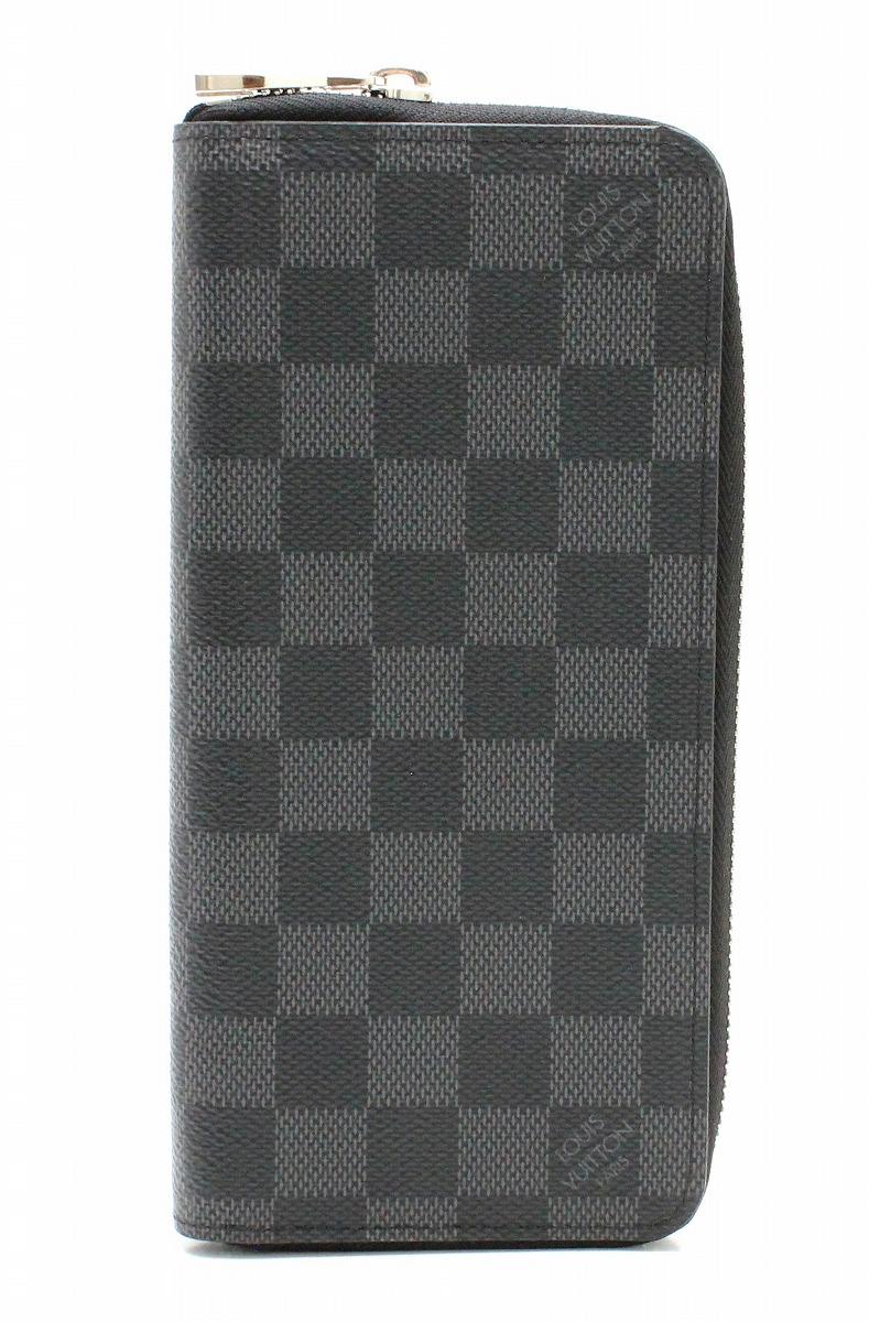 【財布】LOUIS VUITTON ルイ ヴィトン ダミエグラフィット ジッピーウォレット ヴェルティカル ラウンドファスナー 長財布 新型 N63095 【中古】【k】