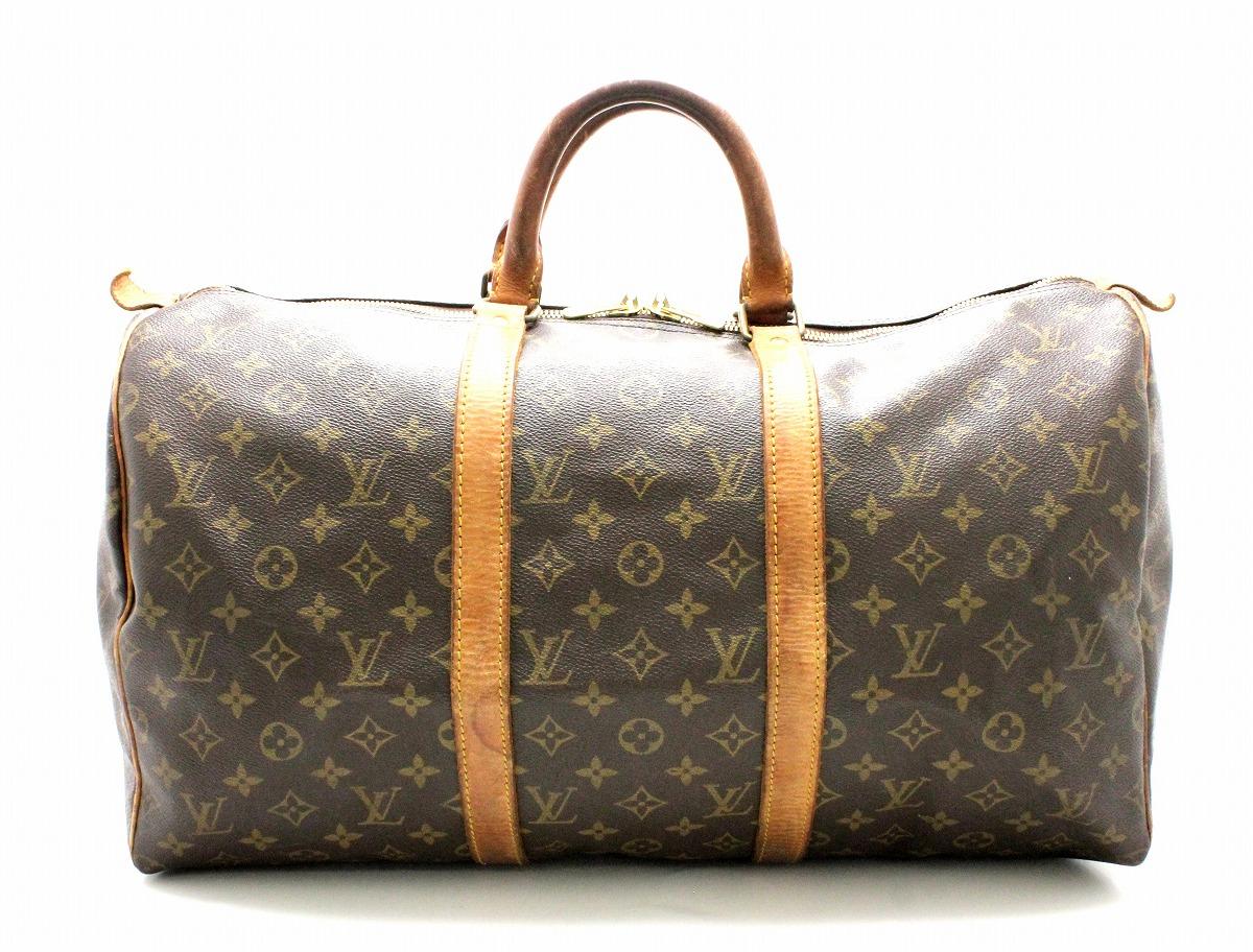 【バッグ】LOUIS VUITTON ルイ ヴィトン モノグラム キーポル45 ボストンバッグ ハンドバッグ 旅行カバン トラベルバッグ トラベルボストン M41428 【中古】【k】